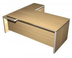 Стол руководителя с брифинг приставкой боковой правой