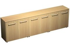 Шкаф для документов низкий закрытый (стенка из 3 шкафов)