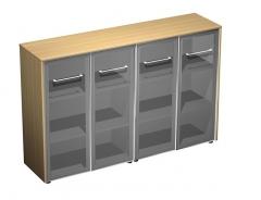 Шкаф для документов со стеклянными дверями (стенка из 2 шкафов)