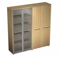 Шкаф комбинированный (стекло-одежда)