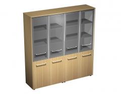 Шкаф для документов со стеклянными дверями