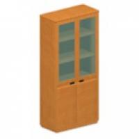 Шкаф книжный со стеклянными  дверьми (широкий)