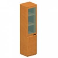 Шкаф книжный со стекл. дверью (узкий)