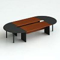 Стол для заседаний, + 2 сектора 180° без суппортов