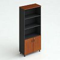 Шкаф для документов, открытый (верх — открытый, 3 полки, низ — д