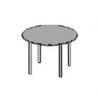 Стол круглый металл-4