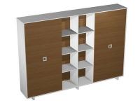 Шкаф-купе для документов высокий (3 секции)